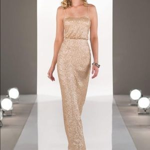 Sorella Vita Rose Gold Sequin Gown Size 6
